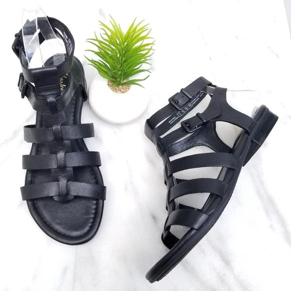7c0040e3319 Clarks Shoes - Clarks Viveca Myth Gladiator Sandal Black Straps